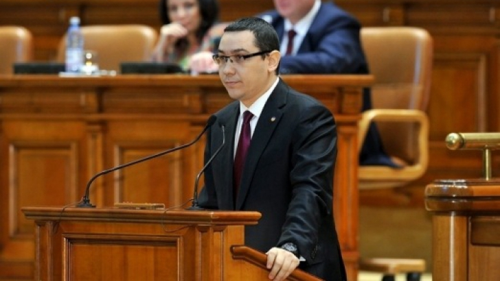 ponta in parlament foto realitatea