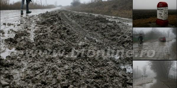Mii de botoşăneni condamnaţi să trăiască precum în EVUL MEDIU. VEZI cum arată singurul drum naţional de pământ din România, la DOI ani de la promisiunile lui PONTA – GALERIE FOTO