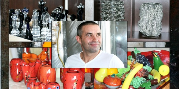 Dorohoianul care a transformat sticla în operă de artă. A vândut în toată Europa, America, Canada şi Asia – GALERIE FOTO