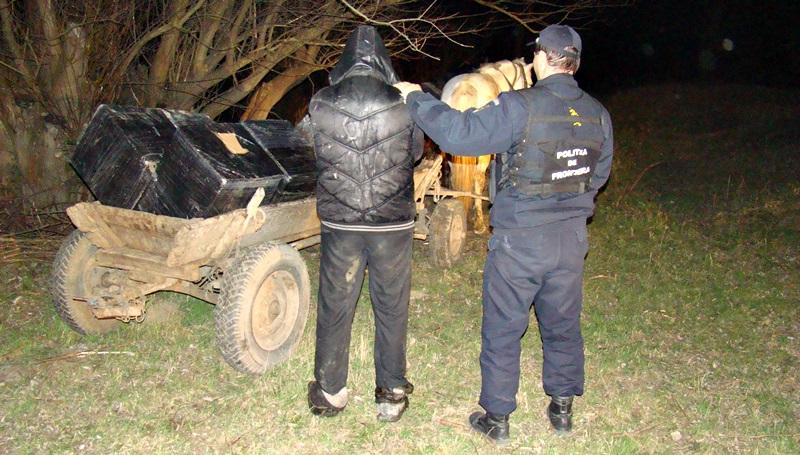 politia de frontiera, caruta tigari