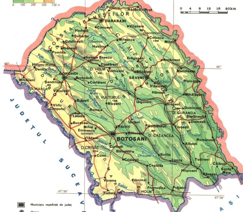 harta judetul botosani