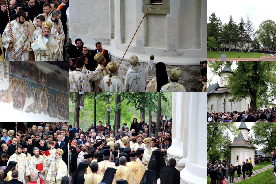 manastirea cosula, sfintire (colaj)
