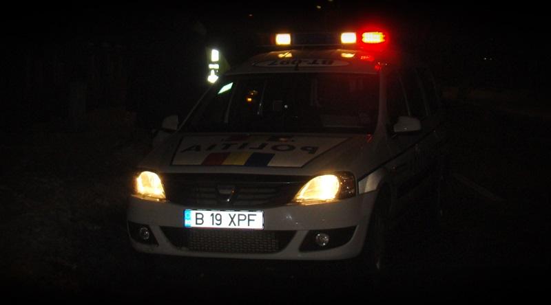 masina politie noaptea