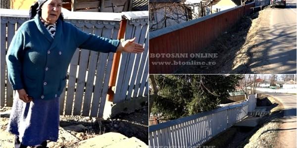 Bătaie de joc într-o localitate din judeţul Botoşani. Au ridicat drumul la nivelul gardurilor iar oamenii nu mai pot intra în curţi FOTO&VIDEO