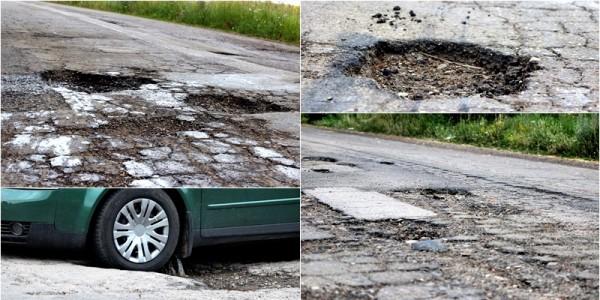 Macaleţi a promis drumuri bune şi ne oferă gropi. Un drum judeţean este impracticabil iar oamenii au ajuns la disperare GALERIE FOTO
