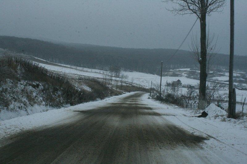 drum zapada iarna