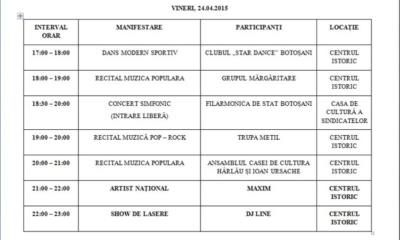 zilele municipiului program1