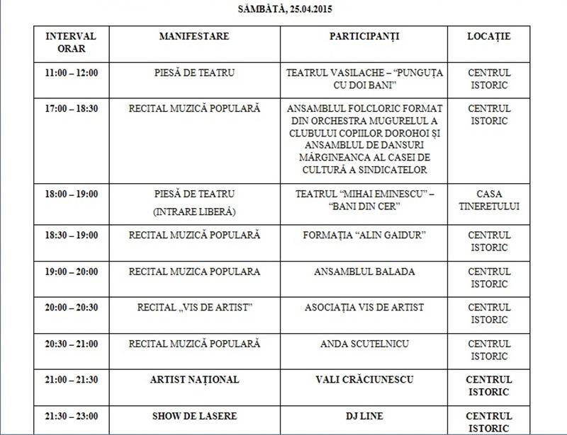 zilele municipiului program2
