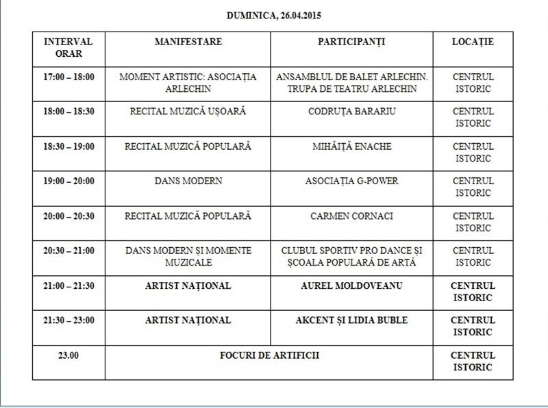 zilele municipiului program3