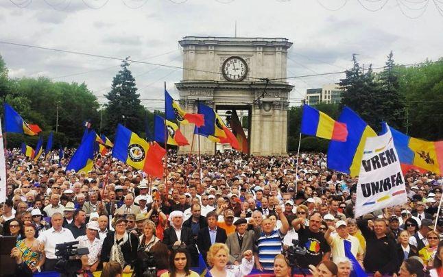 moldova miting unire. foto facebook
