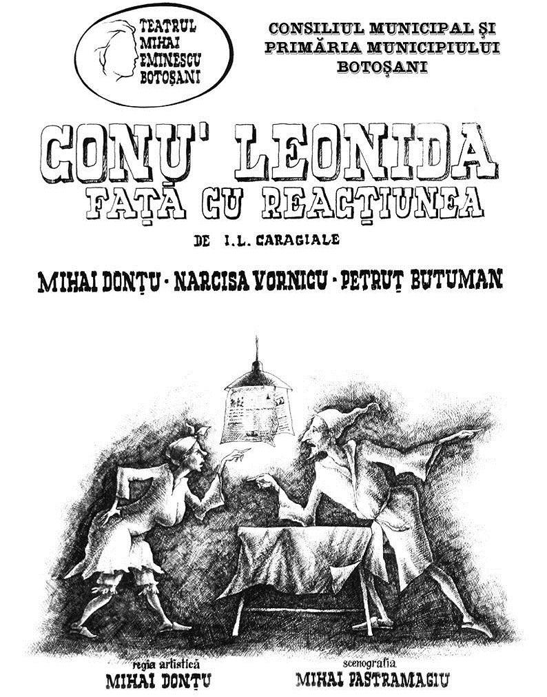 teatru afis Conu Leonida