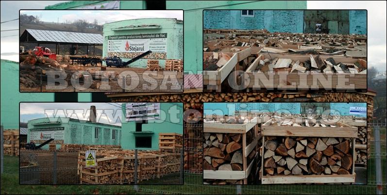 pomarla, atelier de despicat lemn de foc