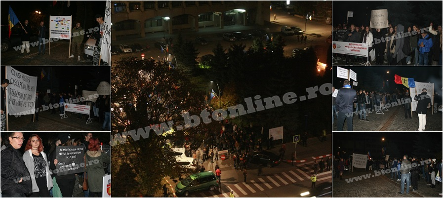 protest in Botosani 4 noiembrie