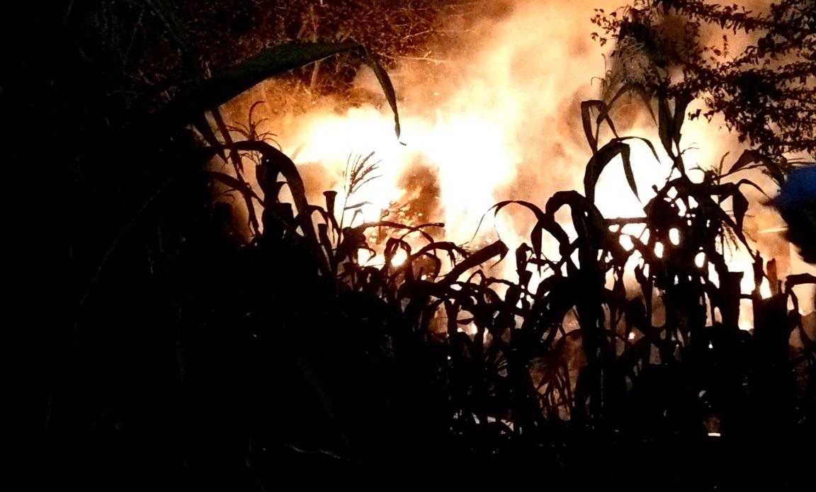 incendiu furaje noaptea