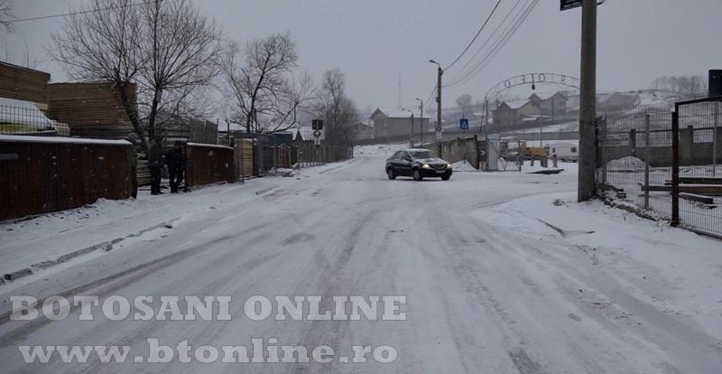 strada pod de piatra iarna, zapada2
