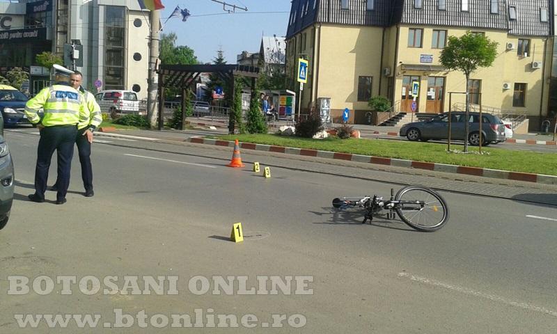 accident calea nationala botosani, biciclist (2)