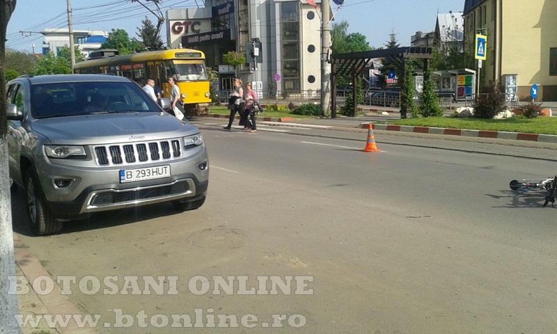 accident calea nationala botosani, biciclist (4)